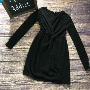 🌀DKNY | Black Long Sleeve Knee Length Dress